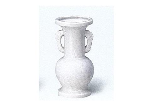 △花瓶・花立 白無地並仏花 中×1ケース(16ヶ入)