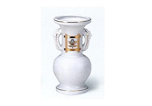 △花瓶・花立 白井桁橘並仏花 中×1ケース(16ヶ入)