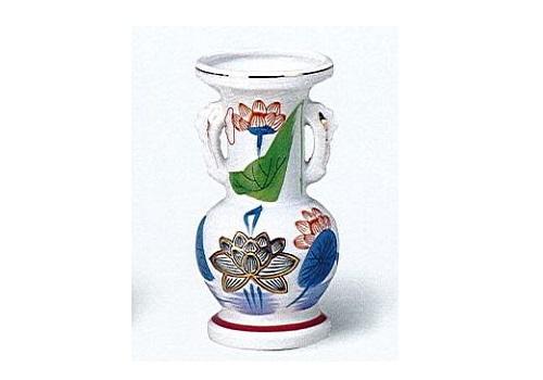 △花瓶・花立 金ハス吹並仏花 中×1ケース(16ヶ入)
