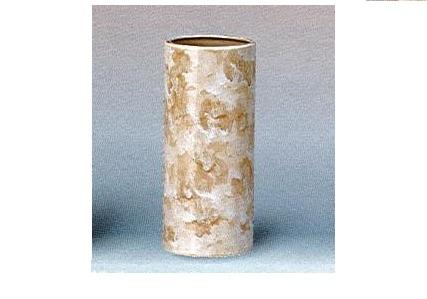 △花瓶・花立 大理石調投入 7.0寸 ベージュ×1ケース(30ヶ)