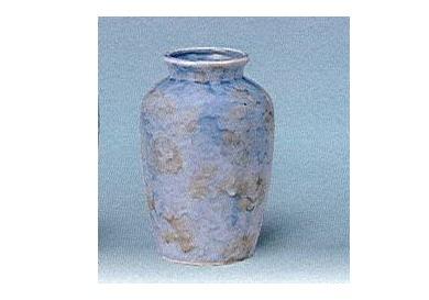 △花瓶・花立 大理石調夏目花瓶 5.0寸 グリーン×1対(2ヶ)