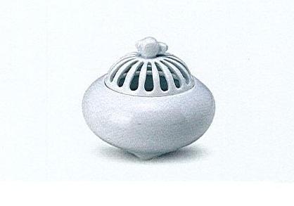 ◇有田焼香炉 白磁蕪型菊割香炉