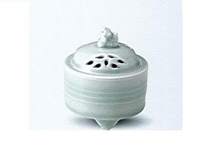 ◇有田焼香炉 青磁竹筒香炉
