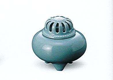 ◇青磁フタ透し玉香炉