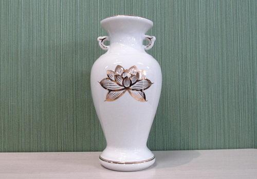 ■花瓶・サギ型花立 白上金ハスサギ 尺0