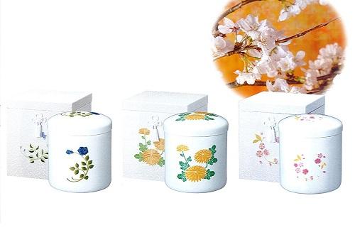 ◇骨箱 花柄刺繍箱 5.0寸