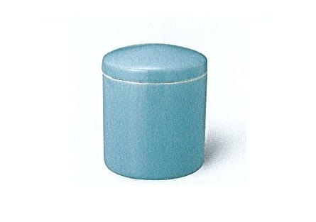 △骨壺・骨壷 青磁上骨カメ かぶせ蓋 5.0寸×1ケース(12ヶ)