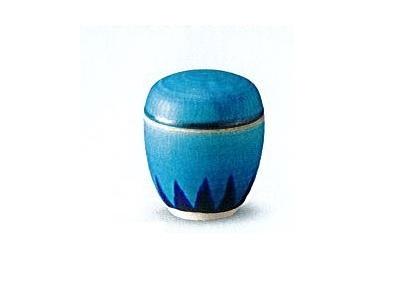 ◇骨壺・骨壷 手造り骨カメ トルコ青 3.0寸