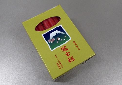 ■富士桜ダルマローソク 朱 1号40本入
