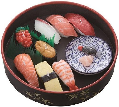 ●寿司づくしキャンドルギフト 故人の好物 【カメヤマ】