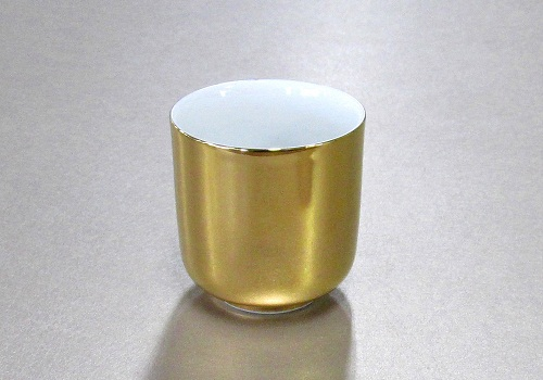△湯呑 総金・惣金 2.8寸×1ケース(6ヶ)
