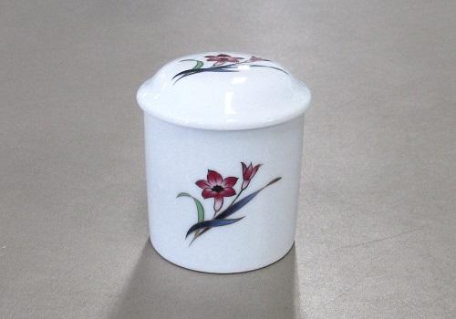 ■マイリトル花柄骨壺 2.0寸 蘭