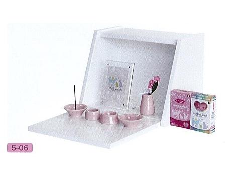 ◇手元供養BOX 小 ホワイト/ピンクセット
