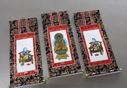 ■仏壇用掛軸 上新金 30代 天台宗用 三幅 ※訳アリ特価品