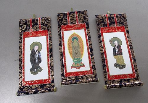 ■仏壇用掛軸 上新金 20代 浄土宗用 三幅 ※訳アリ特価品