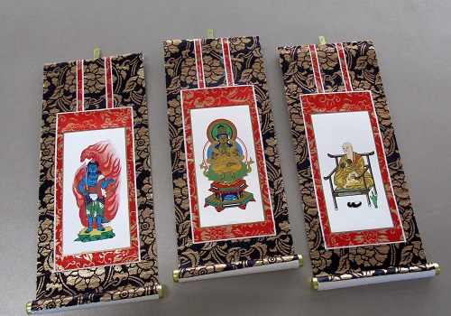 ■仏壇用掛軸 上新金 30代 真言宗用 三幅 ※訳アリ特価品