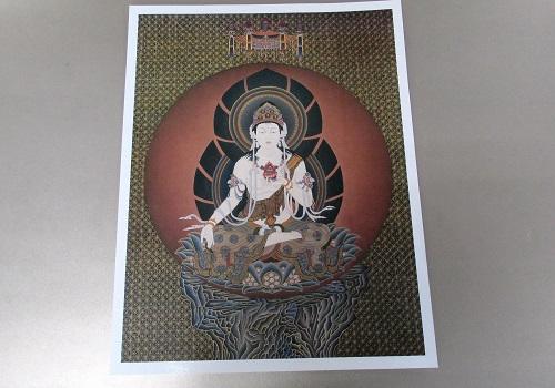 ■仏画ポスター 虚空蔵菩薩 ※訳アリ特価品