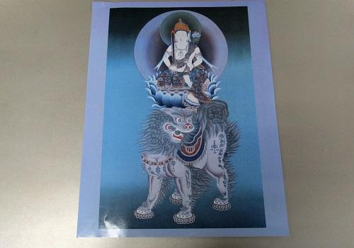 ■仏画ポスター 文殊菩薩 ※訳アリ特価品