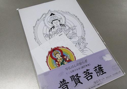 ■写仏用紙 5枚入 普堅菩薩 ※訳アリ特価品