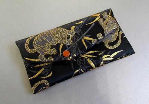 □念珠袋 西陣織 虎柄 黒
