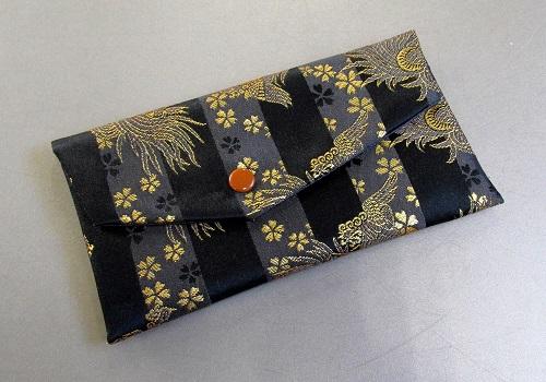 □数珠入・念珠袋 西陣織 龍と桜 B