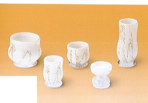 ★ひまりガラス仏具5点セット 手造り吹きガラス
