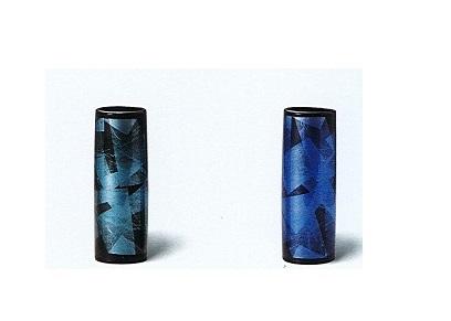 ◇九谷焼花瓶 九谷銀彩8号寸胴 ※廃番商品の為在庫限り
