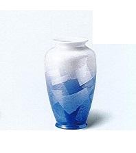 ◇九谷焼花瓶 九谷銀彩8号カメ型 ブルー ※廃番商品の為在庫限り