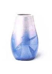 ◇九谷焼花瓶 九谷銀彩7号下太 ブルー ※廃番商品の為在庫限り