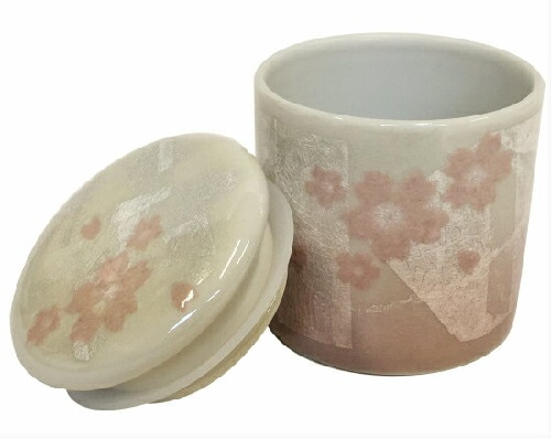 ★骨壺・骨壷 シリコン付骨カメ 2.0寸 桜ピンク