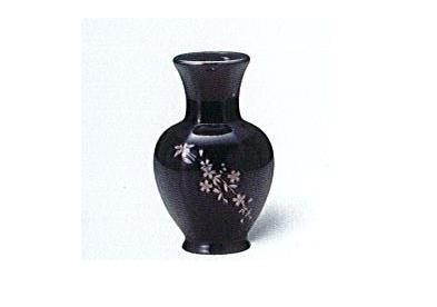△美濃焼花瓶 5号太口花瓶 銀欄さくら×1対(2ヶ)