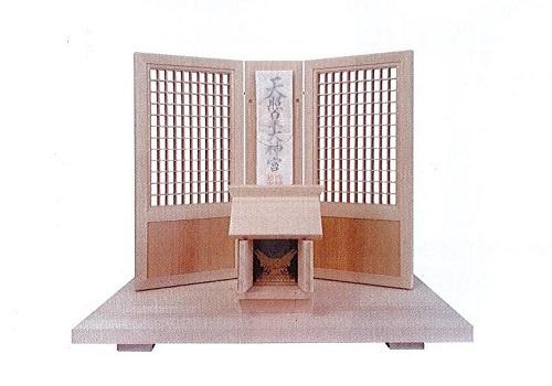 ☆神具用品・神棚 神の宮神飾り��644 神鏡付 木曽ひのき