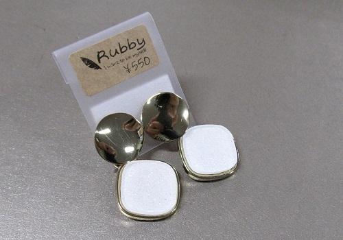 ★ピアス ホワイト 【Rubby】