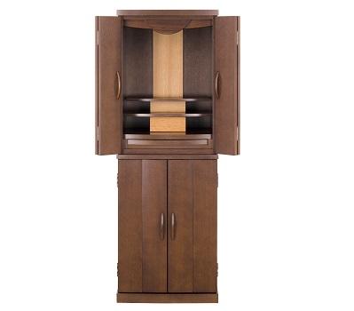 ◆家具調仏壇 パロメ 15号 ダークブラウン色