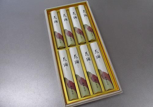 ●進物用線香 花琳 短寸8把入 桐箱 【薫寿堂】 ×10箱