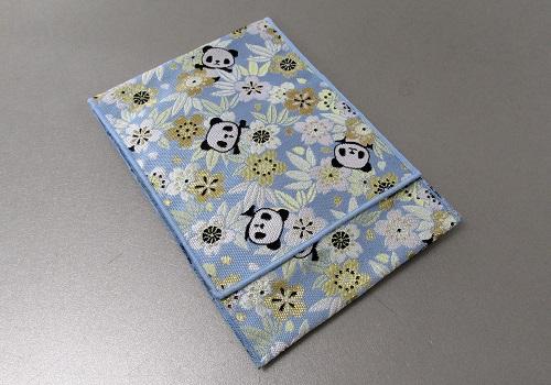 ☆念珠袋・数珠袋 かりん桜 パンダ ブルー