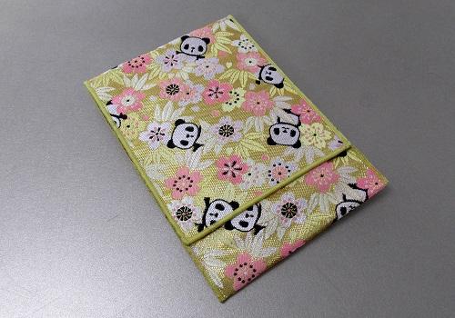 ☆念珠袋・数珠袋 かりん桜 パンダ ゴールド
