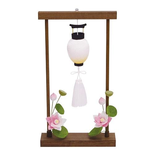 ★ちりめん お盆の枠飾り 蓮の花 57-56