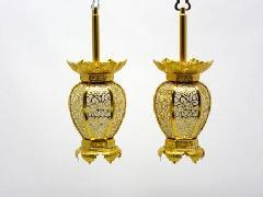 アルミ新夏目型 院玄灯籠(小)1対