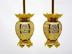 アルミ新夏目型  院玄灯籠(中)1対