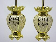 真鍮  陰雲院玄灯籠 雲透(大)1対