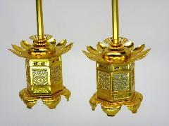 アルミ神前灯籠 西用(猫足)2.5寸(1対)