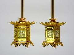 ★アルミ神前灯籠 東用(丁足) 1.5寸 1対入