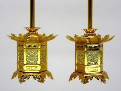 ◇アルミ神前灯籠 東用(丁足) 2.0寸 1対入