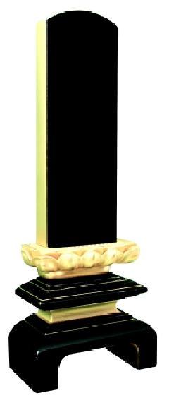 本漆塗 蓮付万寿呂門 2.5寸