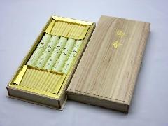 ★煙の少ないお線香 茶花・ 菜蜜灯 桐箱