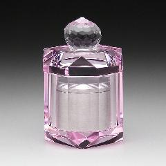 ◆TH-2ガラスミニ骨壺 手元供養 TH−2 アルミケース付