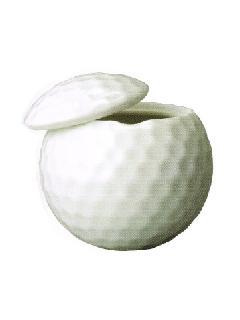 ◇分骨壷 ゴルフ クリアケース付