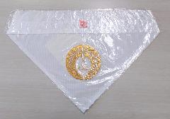 ◇夏用三角打敷 呂 西紋刺繍入 150代 浄土真宗本願寺派(西)用