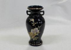 ★花瓶・サギ型花立 ルリ木蓮サギ 8.0寸